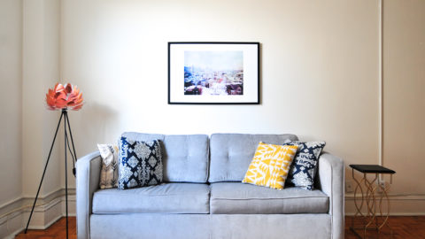 Photo of a couch in a living room