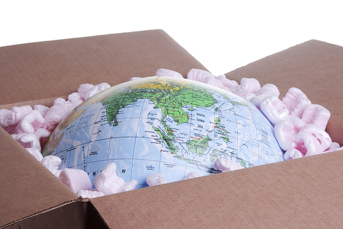 Picture of the Earth Packed in a Box