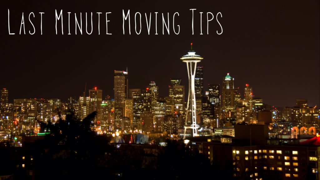 Pic of Last Minute Moving Tips Seattle Banner
