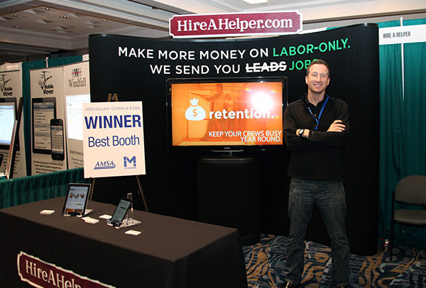 HireAHelper Wins 2014 AMSA Expo Best Booth
