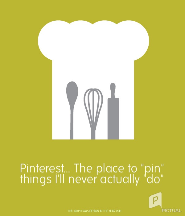 "Pinterest... The place to ""pin"" things I'll never ""do"""
