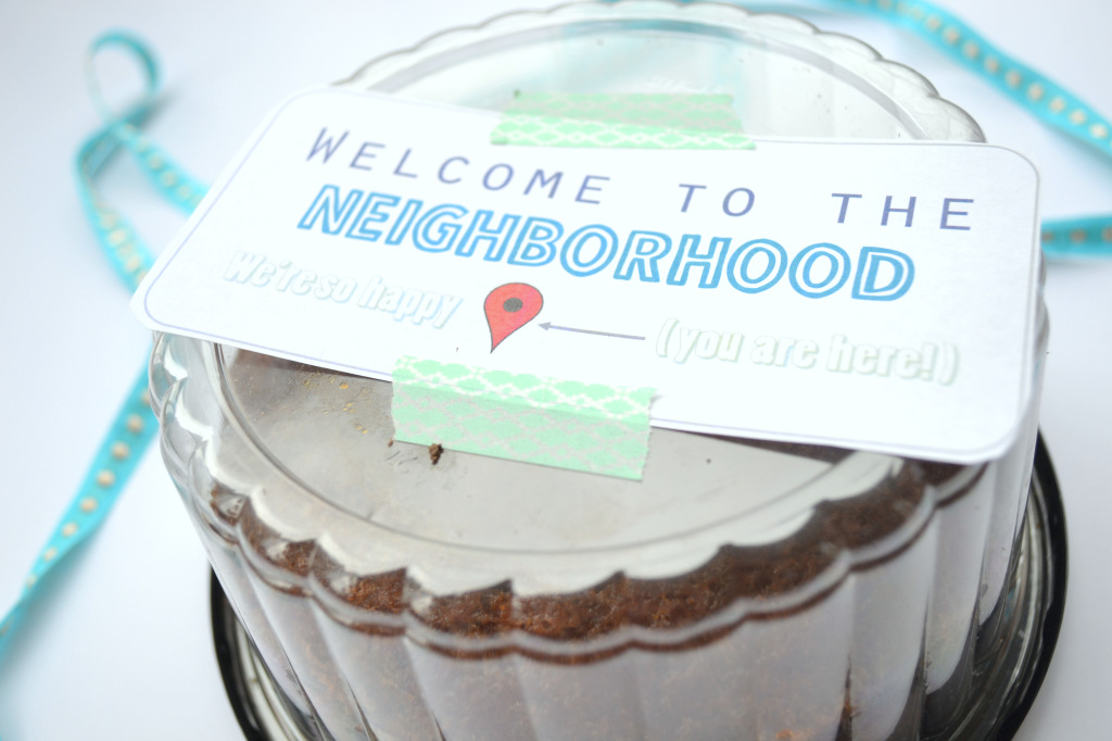 picture about Welcome to the Neighborhood Printable identify A Delectable Present for Your Clean Neighbors (Furthermore a Absolutely free Printable!)