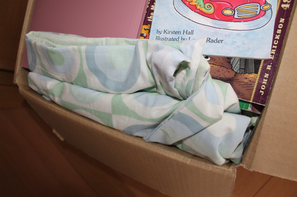 Bed Sheet in a Book Box