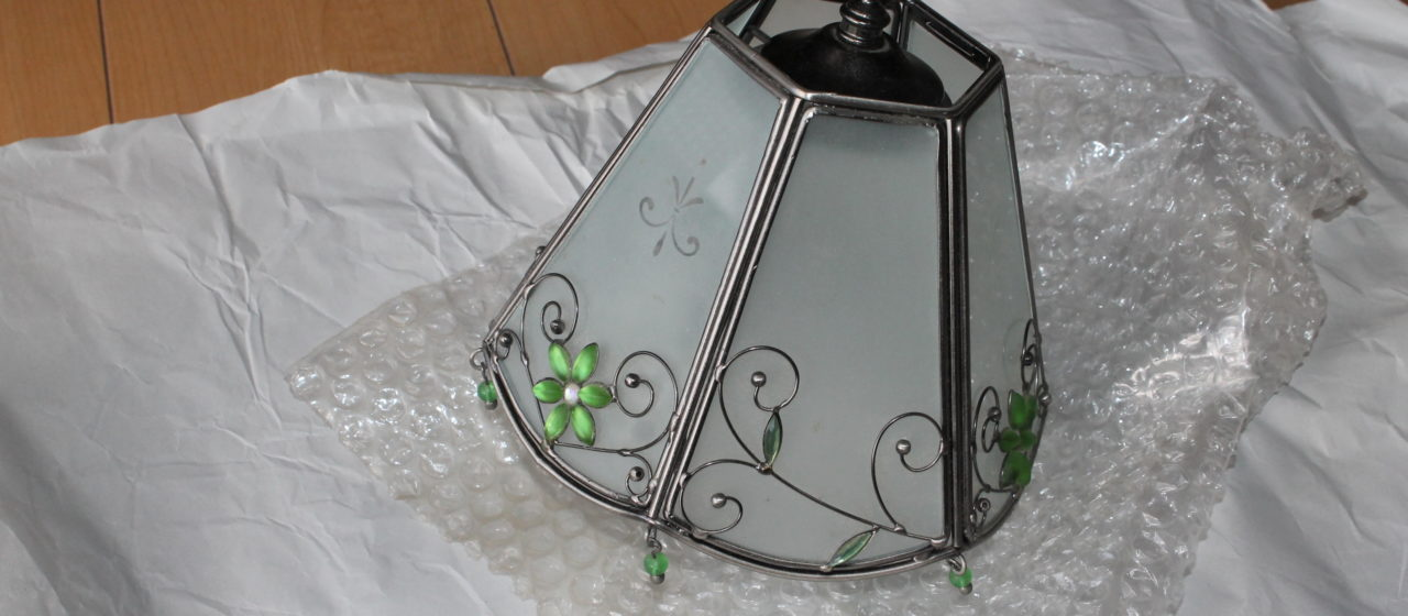 Packing a Glass Lampshade