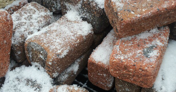 Snow Covered Bricks