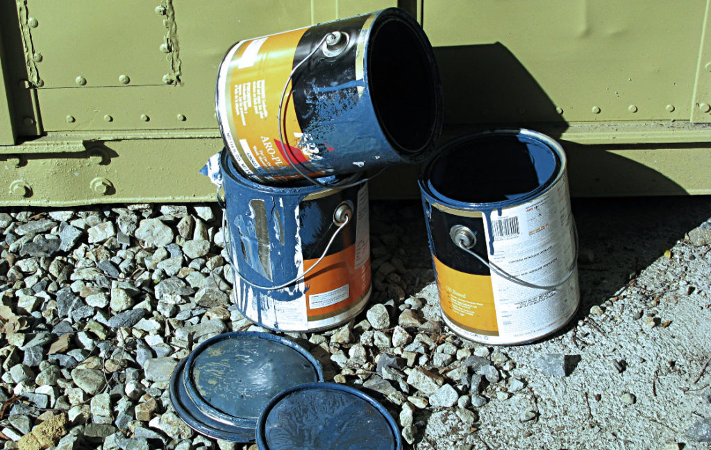 Frozen Blue Paint Cans