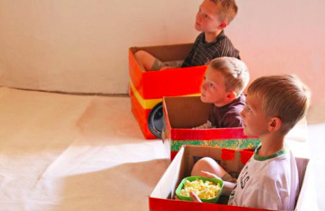 Kids Cardboard Box Drive In Cars