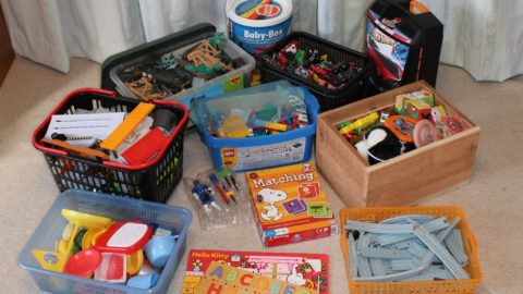 Packing Small Toys, Puzzles, and Parts for Moving