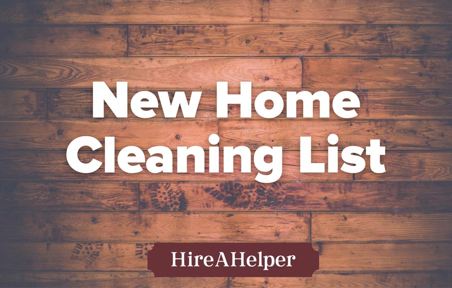 New Home Cleaning List