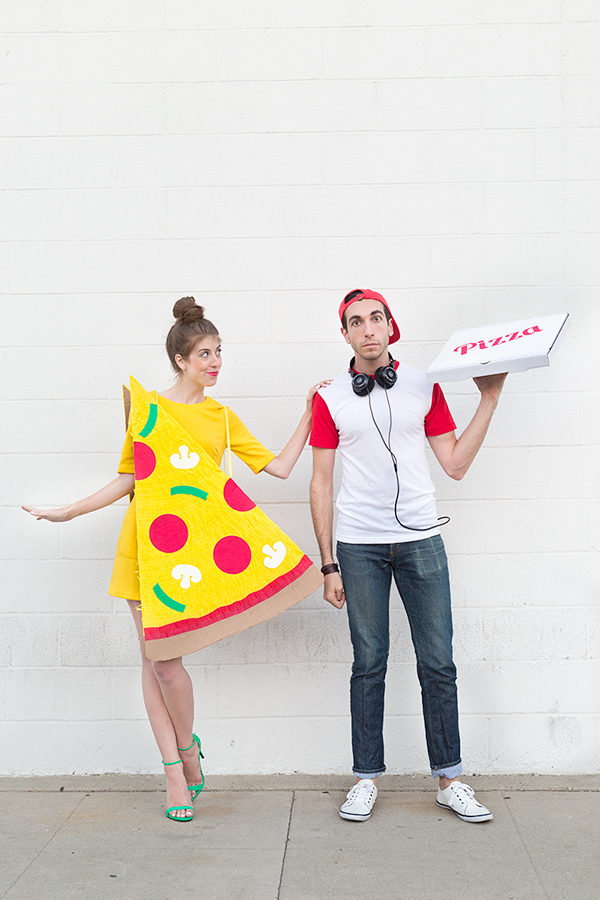 DIY Halloween Costumes - Pizza Slice