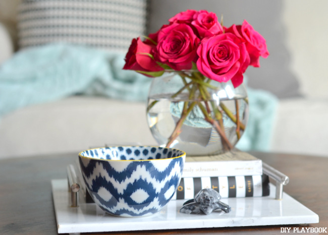 Photo of Coffee Table Books on a Marble Tray