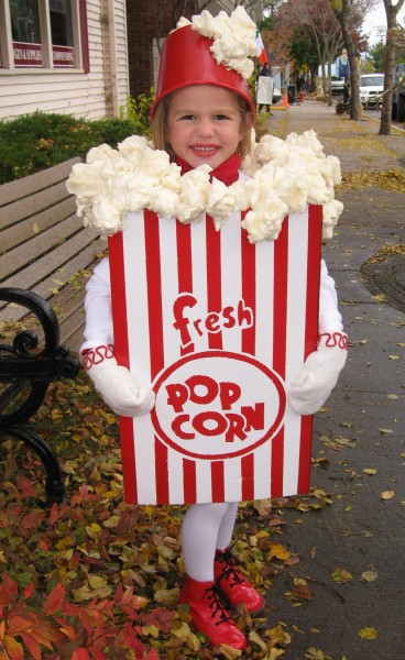 DIY Halloween Costumes - Popcorn Box