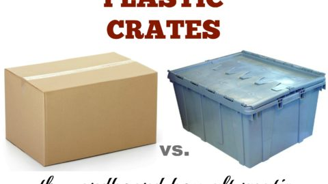Cardboard Moving Boxes vs. Plastic Crates