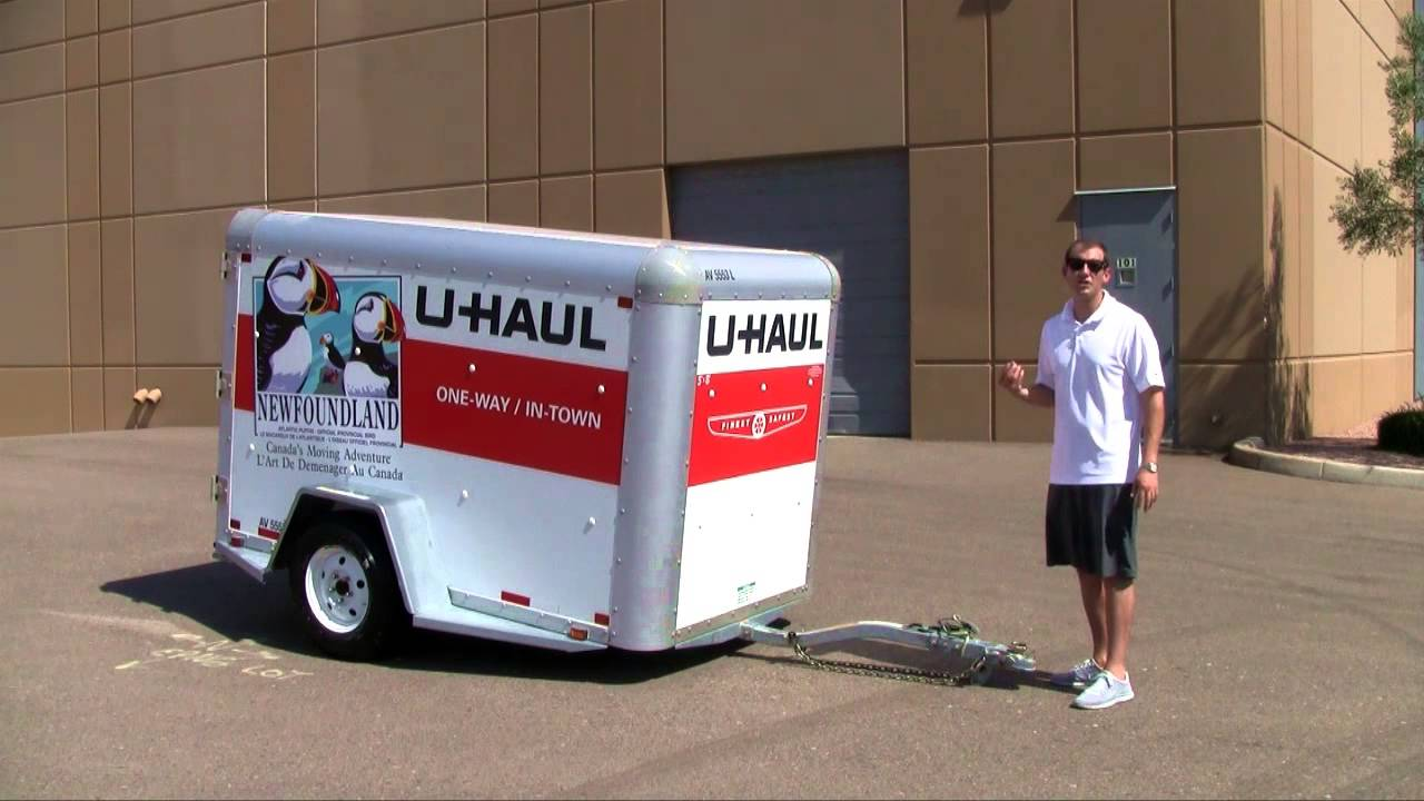 Moving to College U-Haul Trailer
