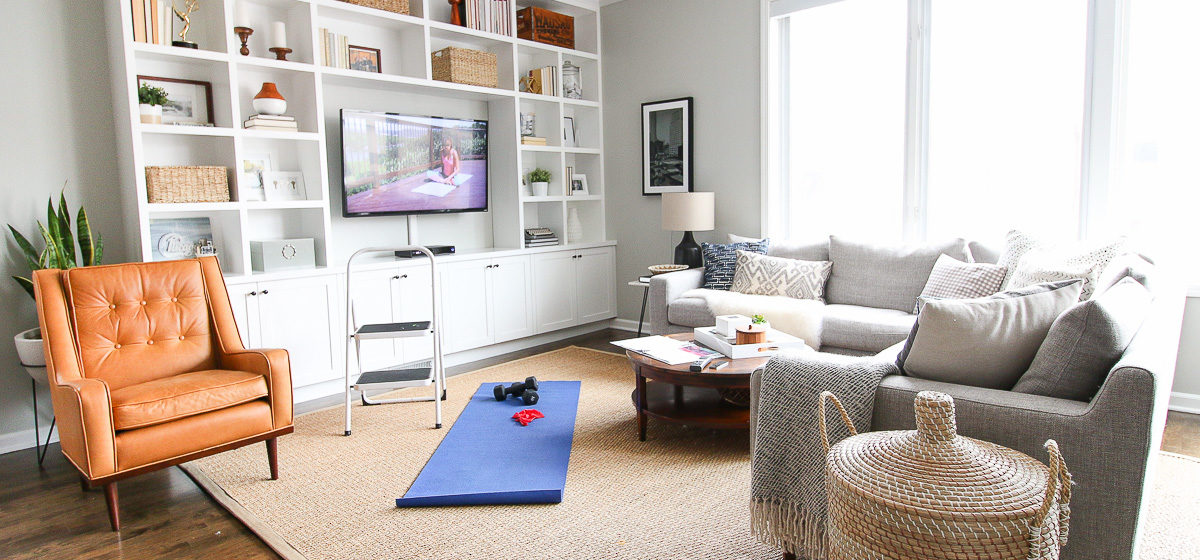 This is how i made my living room into a cheap secret gym