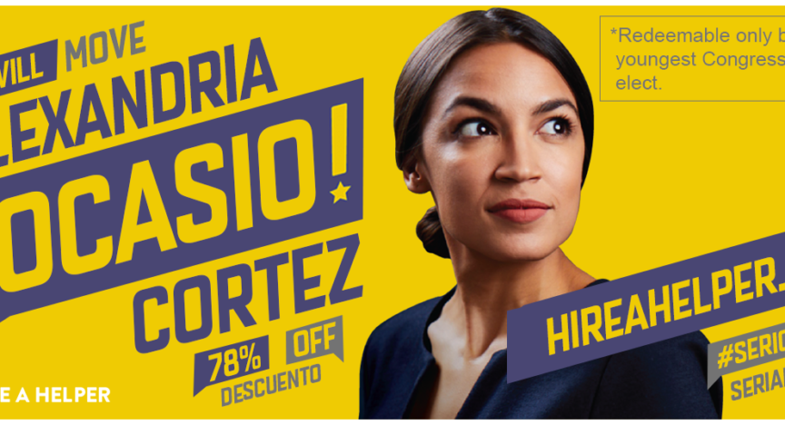 Moving Congresswoman Ocasio-Cortez Banner 2